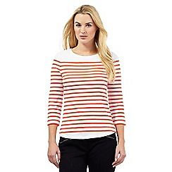J by Jasper Conran - Bright orange striped top