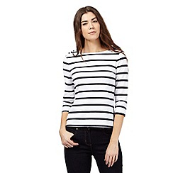 J by Jasper Conran - White striped print top