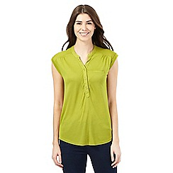 J by Jasper Conran - Green notch neck top