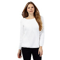 The Collection Petite - White chunky rib jumper
