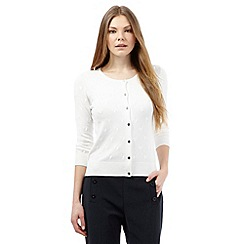 J by Jasper Conran - White embroidered spot cardigan