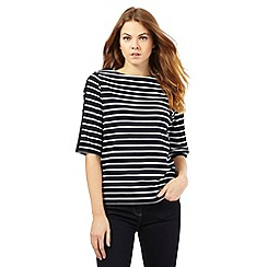 J by Jasper Conran - Navy striped print top