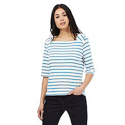 J by Jasper Conran - Ivory striped print top