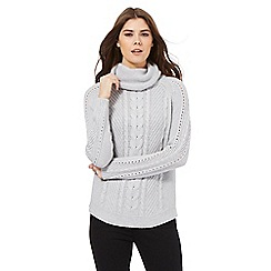 J by Jasper Conran - Grey cable knit jumper