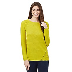 J by Jasper Conran - Lime basket stitch jumper