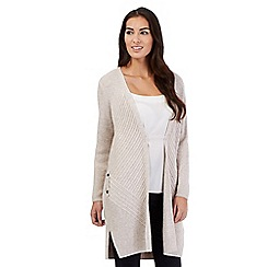 J by Jasper Conran - Taupe wool blend chevron cardigan