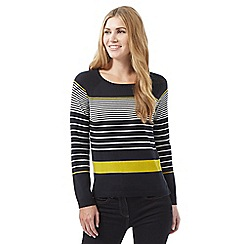 J by Jasper Conran - Navy graduated stripe jumper