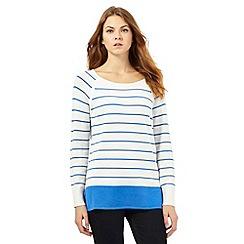 J by Jasper Conran - Bright blue striped print jumper