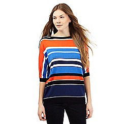 J by Jasper Conran - Multi-coloured block striped jumper