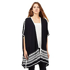 J by Jasper Conran - Navy textured border stripe poncho