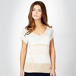J by Jasper Conran - Pale grey colour block top
