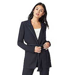 J by Jasper Conran - Navy belted tuxedo jacket