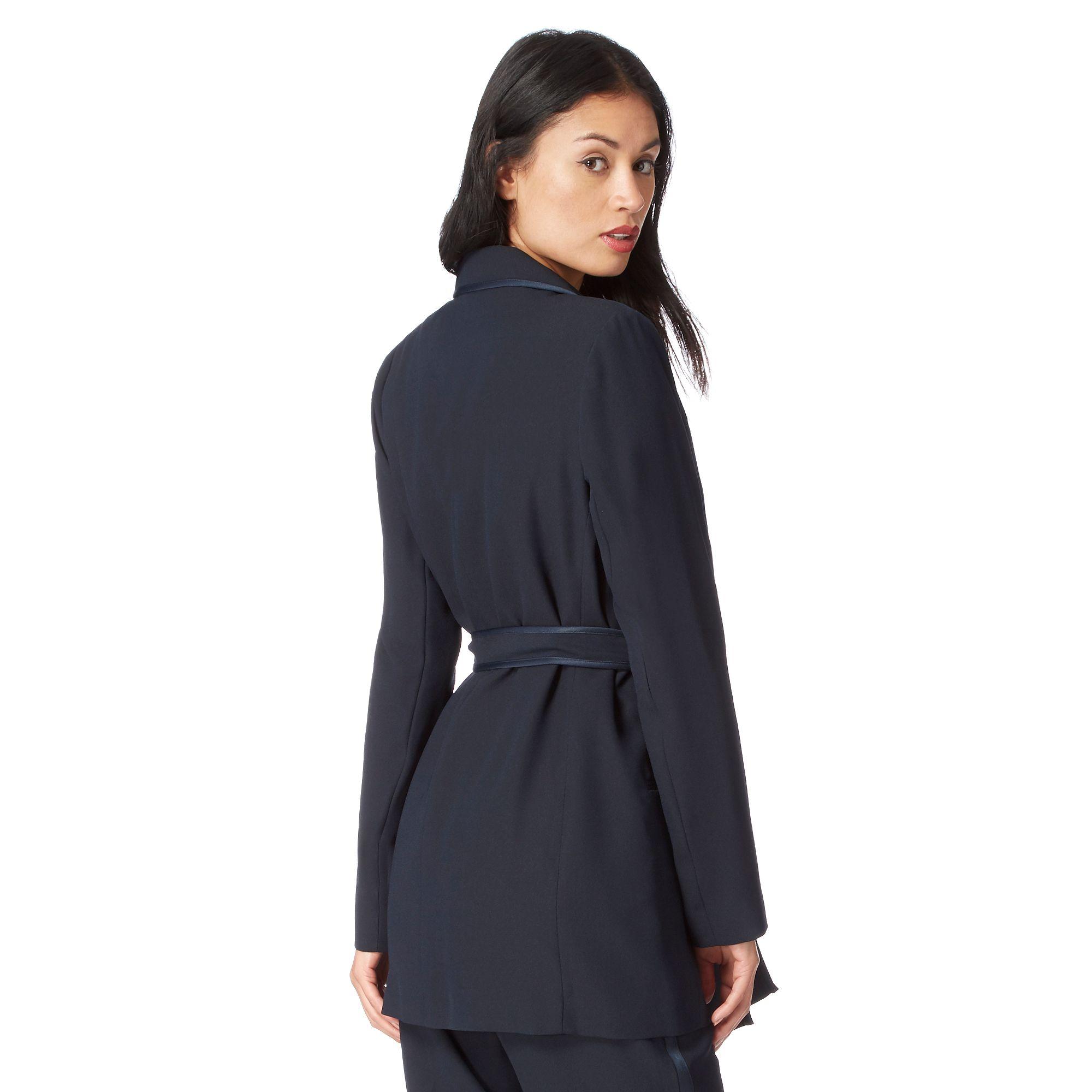 J By Jasper Conran Womens Navy Belted Tuxedo Jacket From Debenhams | EBay