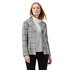J by Jasper Conran - Grey checked print belted coat
