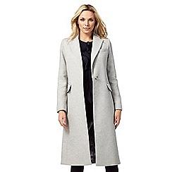 J by Jasper Conran - Pale grey wool blend city coat