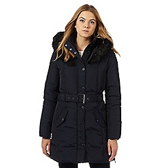 J by Jasper Conran - Navy faux fur padded coat
