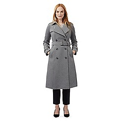 J by Jasper Conran - Grey textured military coat