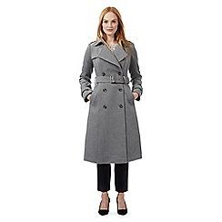 J by Jasper Conran - Grey textured military coat