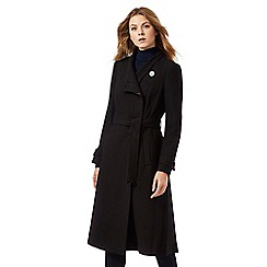 J by Jasper Conran - Black longline wrap coat