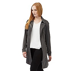 J by Jasper Conran - Dark grey asymmetric mac coat