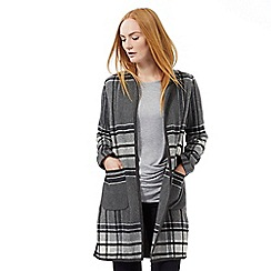 J by Jasper Conran - Grey checked edge to edge jacket with wool