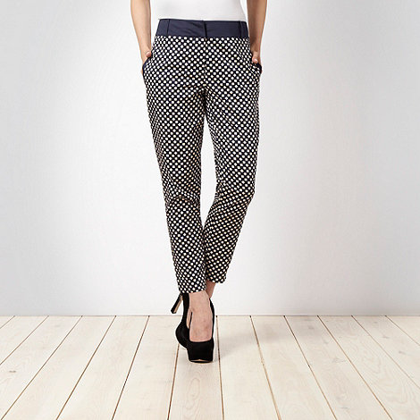 J by Jasper Conran - Navy square printed chinos