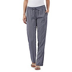 J by Jasper Conran - Navy geometric print trousers
