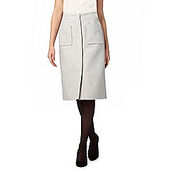 J by Jasper Conran - Pale grey A-line skirt with wool