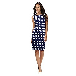 J by Jasper Conran - Blue square tile print shift dress