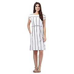 J by Jasper Conran - White striped print dress