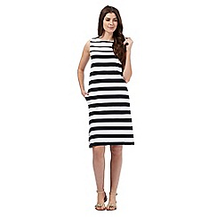J by Jasper Conran - Navy and white striped print dress