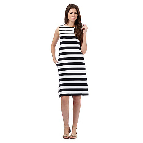 J by jasper conran navy and white striped print dress for Jasper conran shop