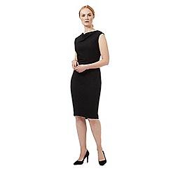 J by Jasper Conran - Black textured drape dress