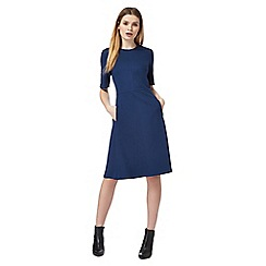 J by Jasper Conran - Navy fit and flare dress