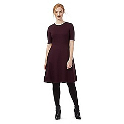 J by Jasper Conran - Dark purple fit and flare ponte dress