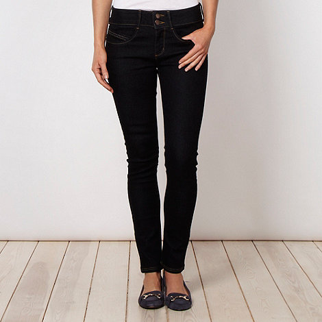 J by Jasper Conran - Shape enhancing dark blue skinny jeans