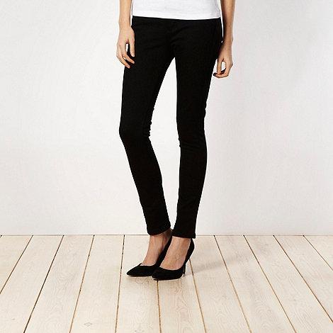 J by Jasper Conran petite - Petite shape enhancing black skinny jeans