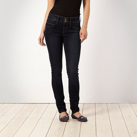 J by Jasper Conran petite - Petite shape enhancing indigo skinny jeans