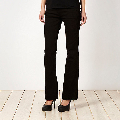 J by Jasper Conran - Shape enhancing black bootcut jeans