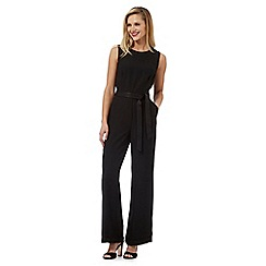 J by Jasper Conran - Black satin wide leg jumpsuit