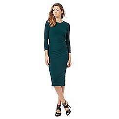 J by Jasper Conran - Dark green midi dress