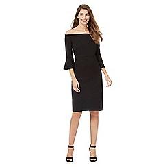 J by Jasper Conran - Black Bardot fluted sleeve dress