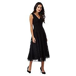 J by Jasper Conran - Black floral lace dress