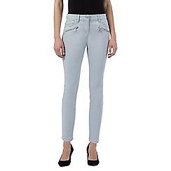 J by Jasper Conran - Grey slim leg mid-rise ankle grazer jeans