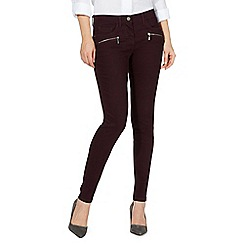 J by Jasper Conran - Dark red high waisted skinny jeans