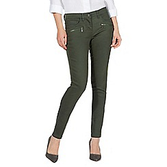 J by Jasper Conran - Khaki high waisted skinny jeans