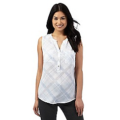 J by Jasper Conran - Blue soft checked blouse