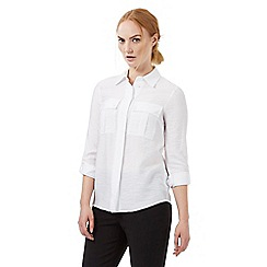 J by Jasper Conran - White pocket textured shirt