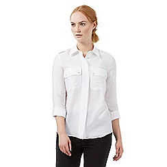 J by Jasper Conran - White textured shirt