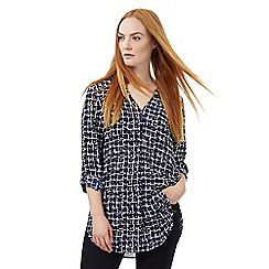 J by Jasper Conran - Blue printed shirt